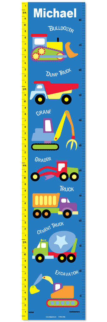 Under Construction Personalized Decal Growth Chart Art Appeel