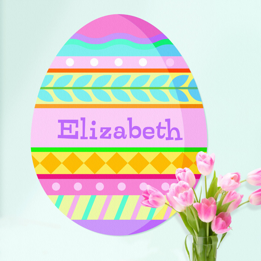 Personalized Easter Egg Decal Girls