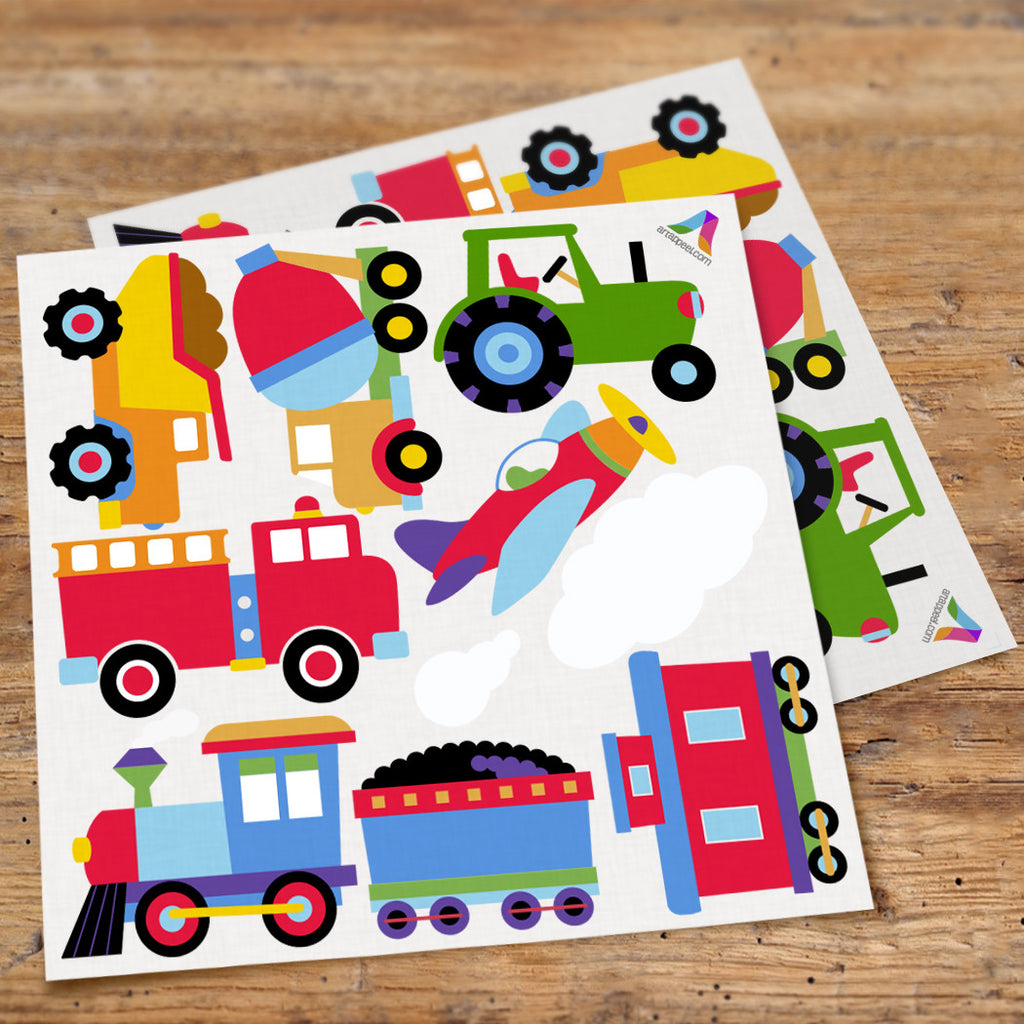 Trains, Planes & Trucks Peel & Stick Wall Decal Cutouts by Olive Kids