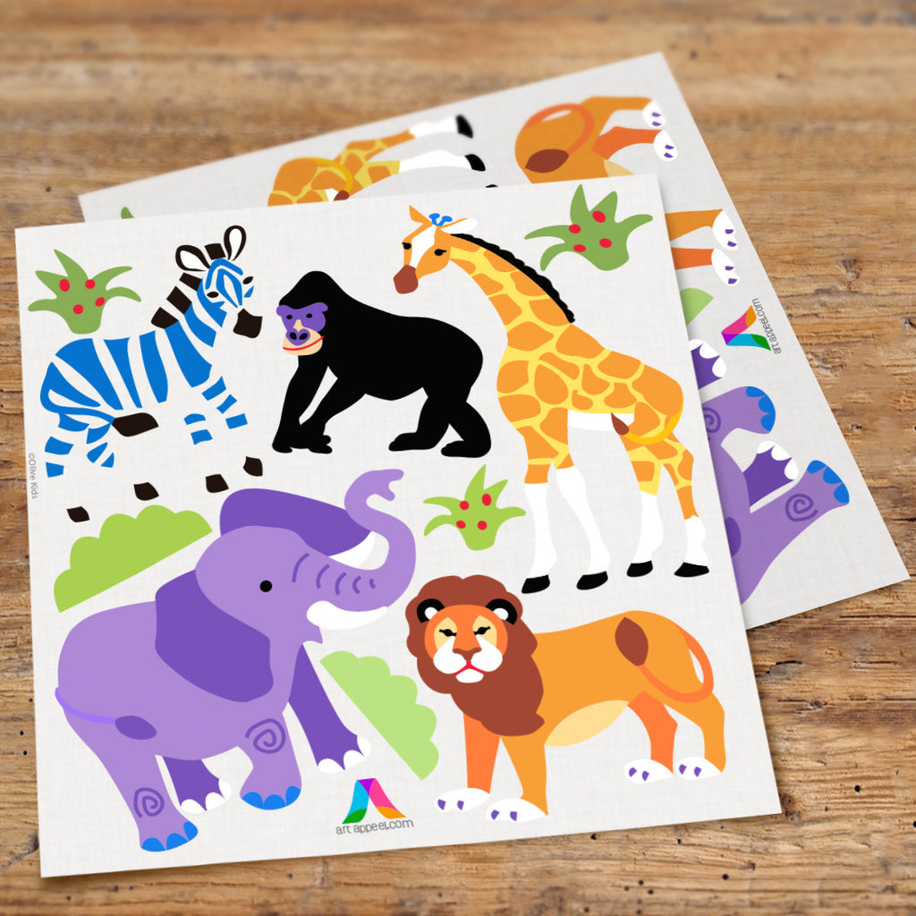 Wild Animals Peel & Stick Wall Decal Cutouts by Olive Kids