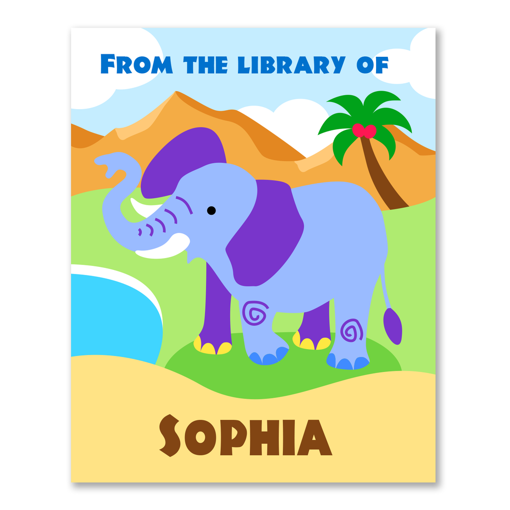 Wild Animals Personalized Bookplates