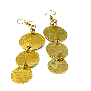 African Brass Earrings