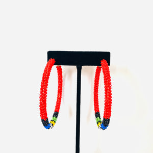 Broad Street Beaded Hoops
