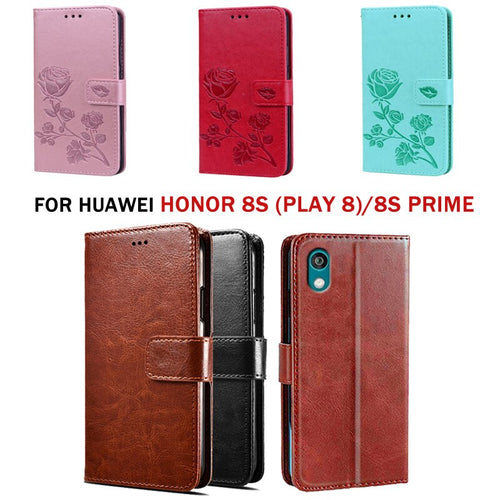 For Huawei Honor 8S Prime Premium PU Leather Flip Cover Case For Huawei Honor 8S (Play 8) Wallet Capas Coque Cases