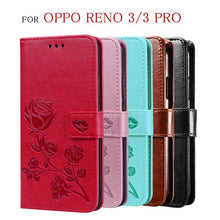 Load image into Gallery viewer, For OPPO Reno 3 Pro Case Premium Funda Luxury Flip Leather Wallet Card Cover For OPPO Reno 3 Case Protective Phone Stand Capas