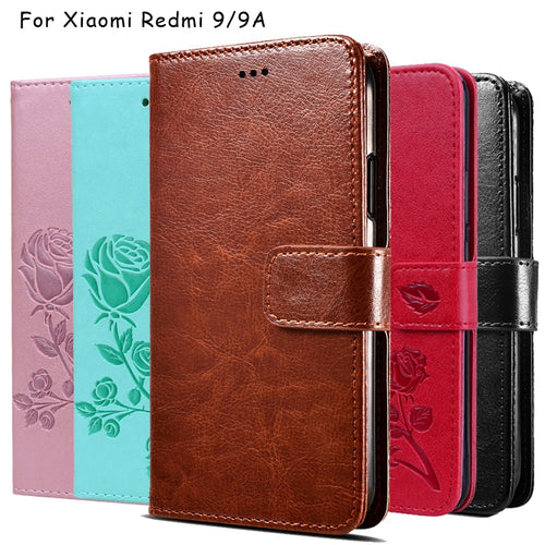Case For Xiaomi Redmi 9 Premium PU Leather Flip Case Funda Cover For Xiaomi Redmi 9A Wallet Capas Cases