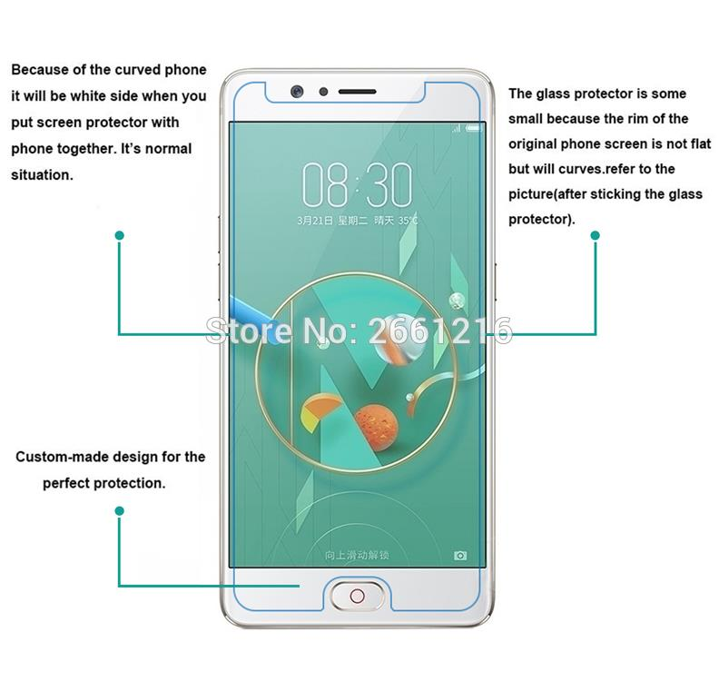 9H 2.5D For ZTE Nubia M2 Glass Transparent Screen Smartphone Protector Films For ZTE Nubia M2 Lite Tempered Glass Film