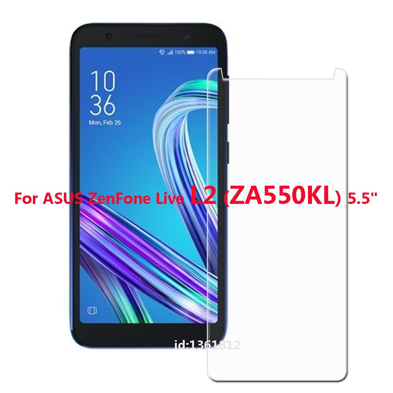 2PCS ASUS ZenFone Live L2 ZA550KL Tempered Glass High Quality New Film Explosion-proof Screen Protector For ZA550KL Phone Glass