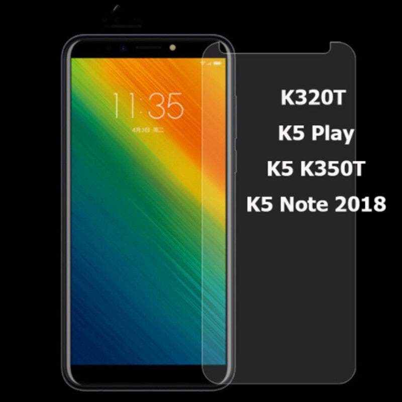 Lenovo K5 K350t K320t 2018 Tempered Glass Protective Film For Lenovo K5 Play Note 2018 Glass Screen Protector Mobile Phone Film