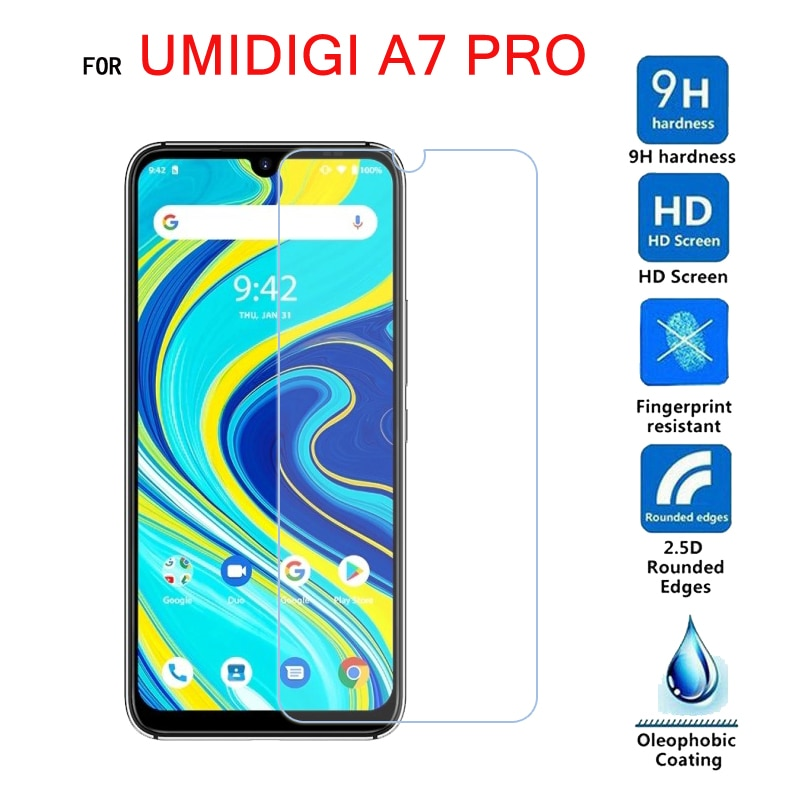 2Pcs Tempering Glass For UMIDIGI A7 Pro Glass Screen Protector Scratch Proof LCD Film For UMI A7 Pro Cover