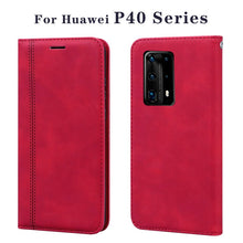 Load image into Gallery viewer, PU Leather Case For Huawei P40 Pro+ PLUS Flip Case For Huawei P40 Wallet Cover For Huawei P40 Pro Capas Coque Cases