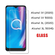 Load image into Gallery viewer, 2Pcs Tempering Glass For Alcatel 3L 2020 5034D Protector Scratch Proof LCD Film Glass For Alcatel 1V 2020 5001D Premium Cover