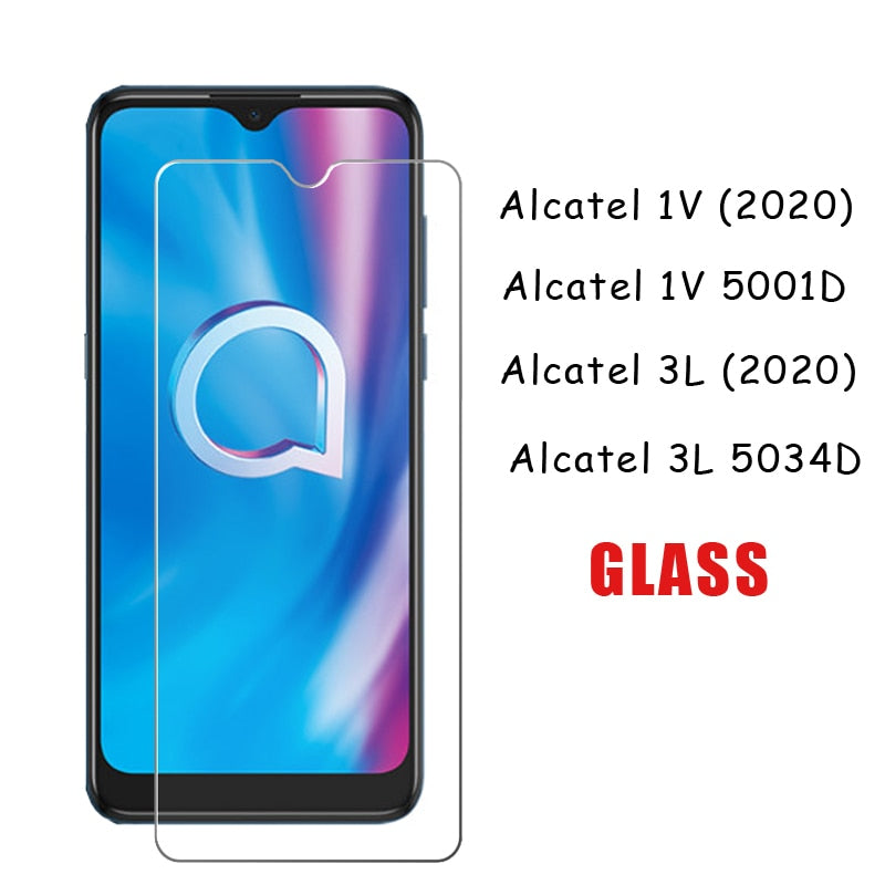 2Pcs Tempering Glass For Alcatel 3L 2020 5034D Protector Scratch Proof LCD Film Glass For Alcatel 1V 2020 5001D Premium Cover