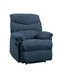 Arcadia Blue Woven Fabric Recliner (Motion) image