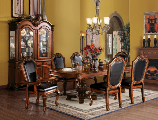 Chateau De Ville Black PU & Cherry Side Chair image