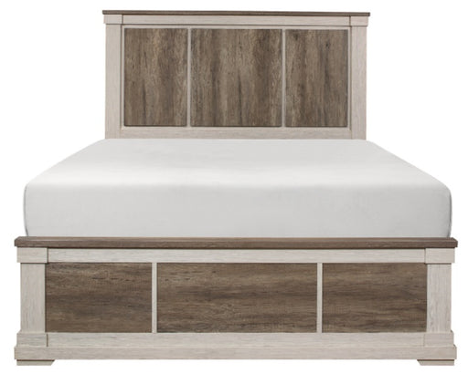 Homelegance Arcadia King Panel Bed in White & Weathered Gray 1677K-1EK* image