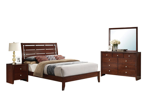 Ilana Brown Cherry Queen Bed image