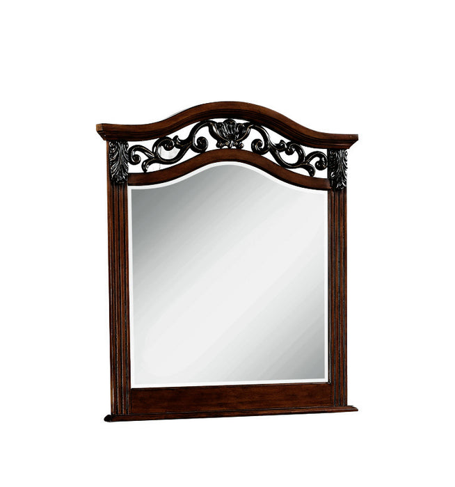 Manfred Dark Walnut Mirror image
