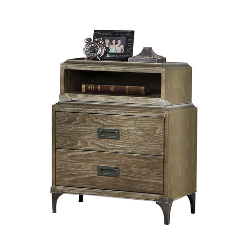 Athouman Weathered Oak Nightstand image