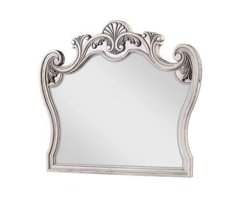 Braylee Antique White Mirror image