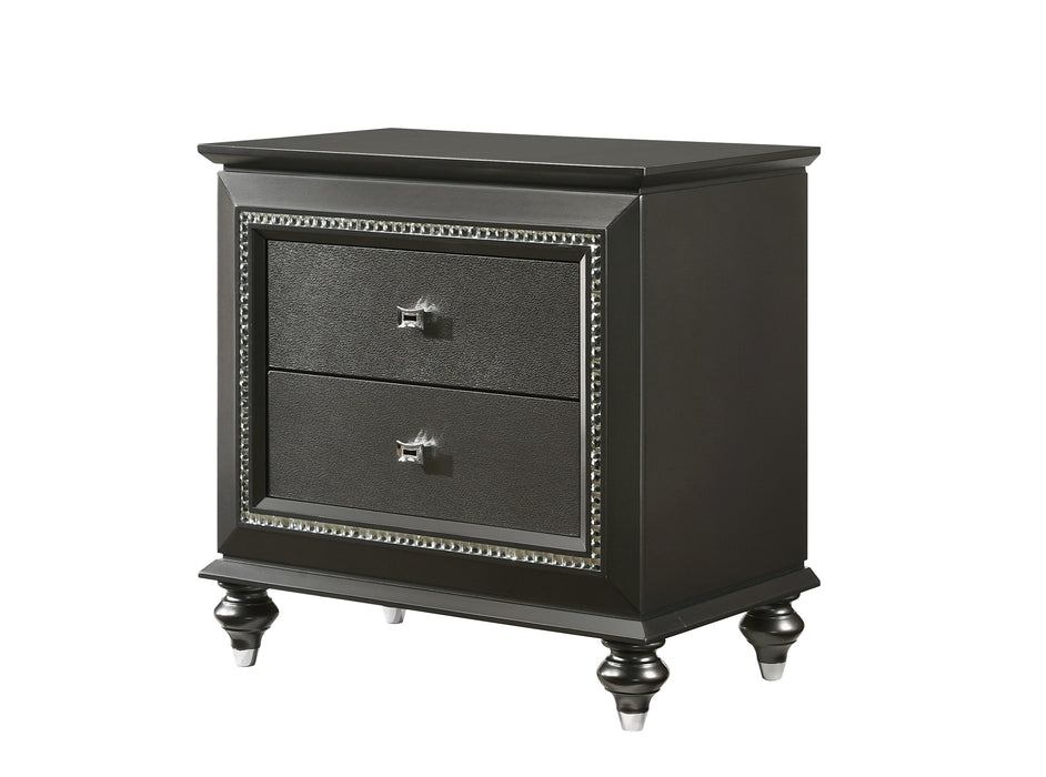 Kaitlyn Metallic Gray Nightstand image
