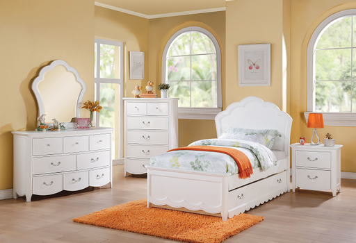 Cecilie White Twin Bed image