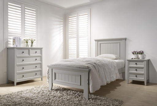 Elodi Light Gray Twin Bed image