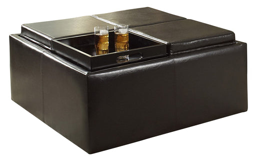 Homelegance Kaitlyn Cocktail Ottoman with 4 Trays/Storage in Mocha 468PU image