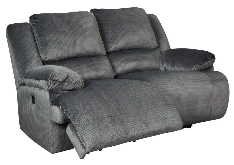 Clonmel Signature Design by Ashley Power Reclining Loveseat image