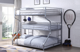 Caius II Silver Bunk Bed (Triple Full/Twin/Queen) image