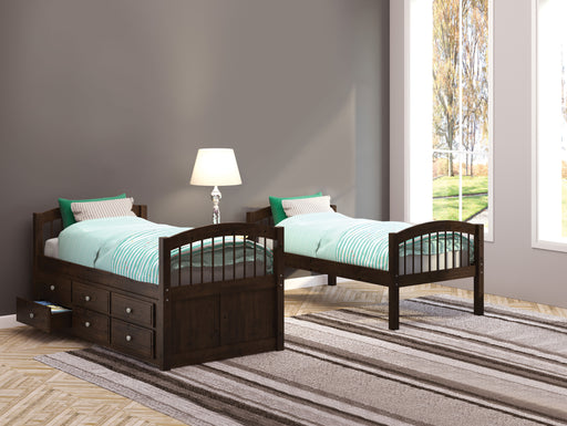 Micah Espresso Bunk Bed & Trundle (Twin/Twin) image