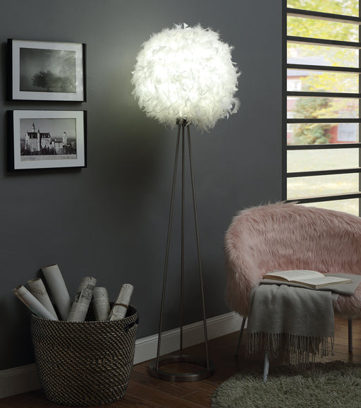 Theodosia Sandy Nickel Floor Lamp image