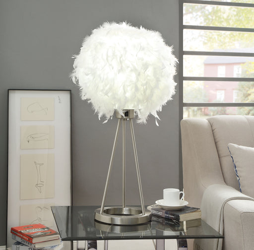 Theodosia Sandy Nickel Table Lamp image