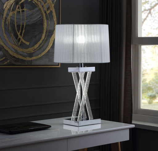 Mallory Clear Acrylic & Chrome Table Lamp image