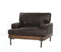 Silchester Oak & Distress Chocolate Top Grain Leather Chair image