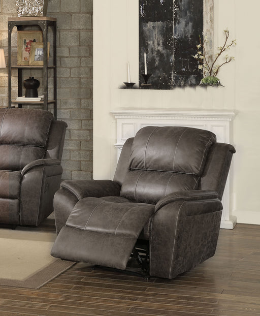 Barnaby Gray Polished Microfiber Recliner (Motion) image