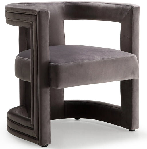 Blair Grey Velvet Accent Chair image