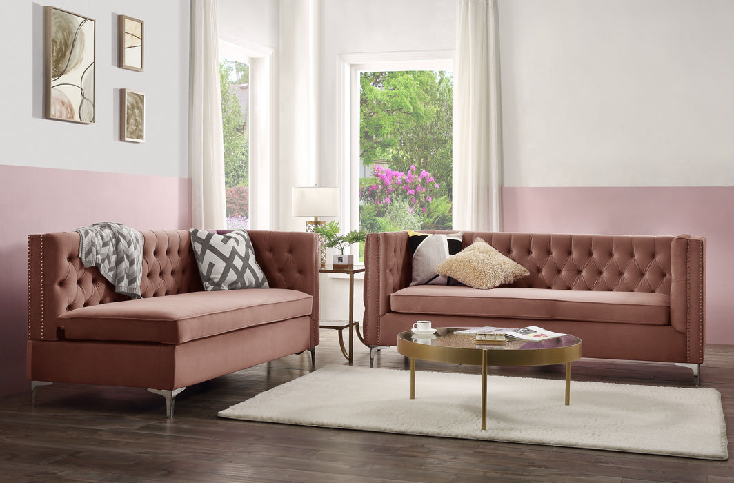Rhett Dusty Pink Velvet Sectional Sofa image