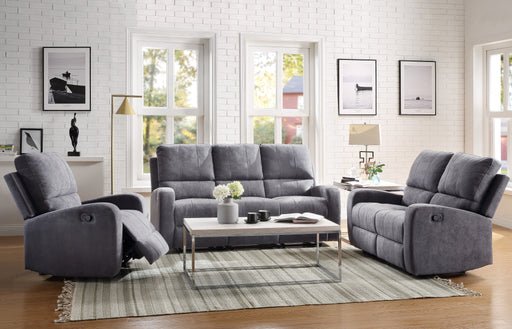 Livino Gray Fabric Sofa (Motion) image