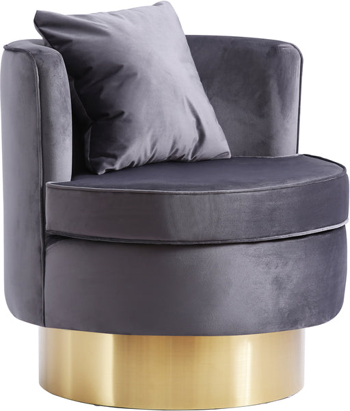 Kendra Grey Velvet Accent Chair image