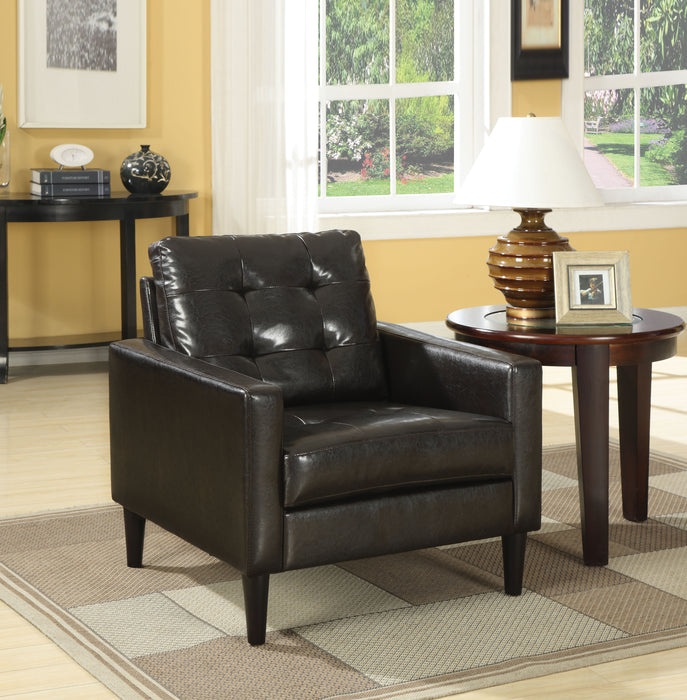 Balin Espresso PU Accent Chair image