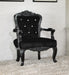 Pascal Black Frame & PU Accent Chair image