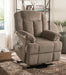 Ixia Light Brown Fabric Recliner w/Power Lift & Massage image