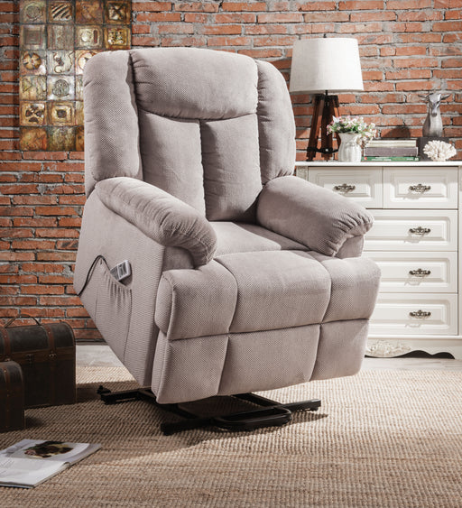 Ixia Light Gray Fabric Recliner w/Power Lift & Massage image