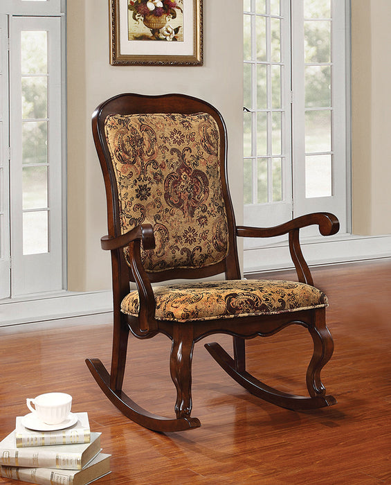 Sharan Fabric & Cherry Rocking Chair image