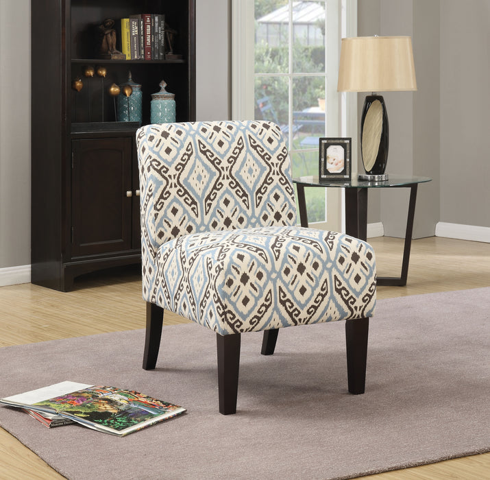 Ollano Pattern Fabric (Blue) Accent Chair image