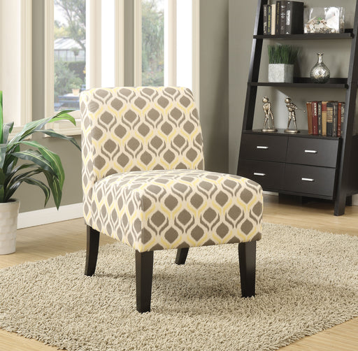 Ollano Pattern Fabric (Gray & Yellow) Accent Chair image