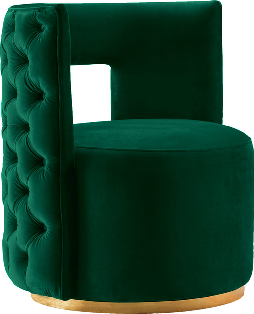 Theo Green Velvet Accent Chair image