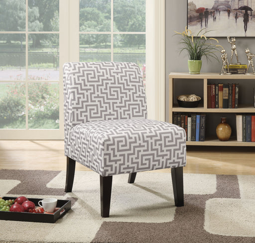 Ollano Pattern Fabric (Gray) Accent Chair image