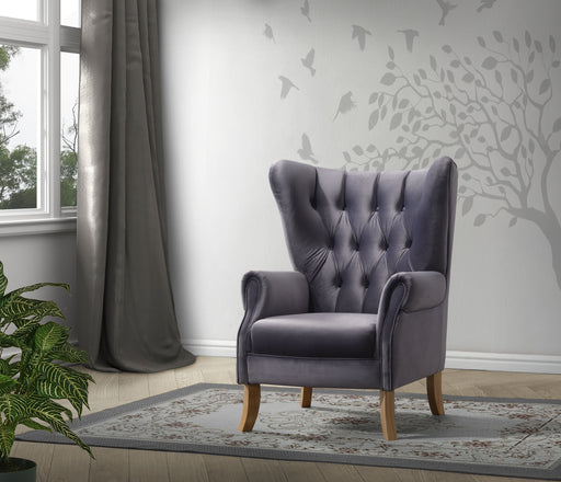 Adonis Gray Velvet Accent Chair image